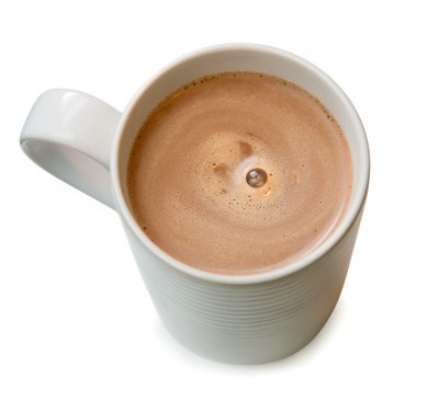 varm chokladsås vatten